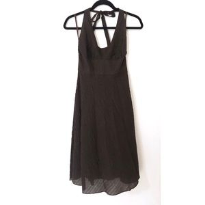 J Crew Brown Size 4 Halter Pin Up Style Dress